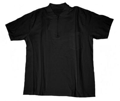 Polo T-Shirt avec poche et avec Zip noir